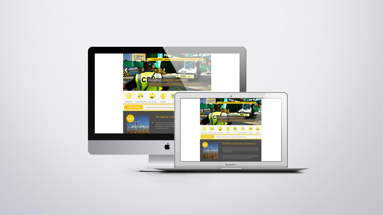 Technology agency website development