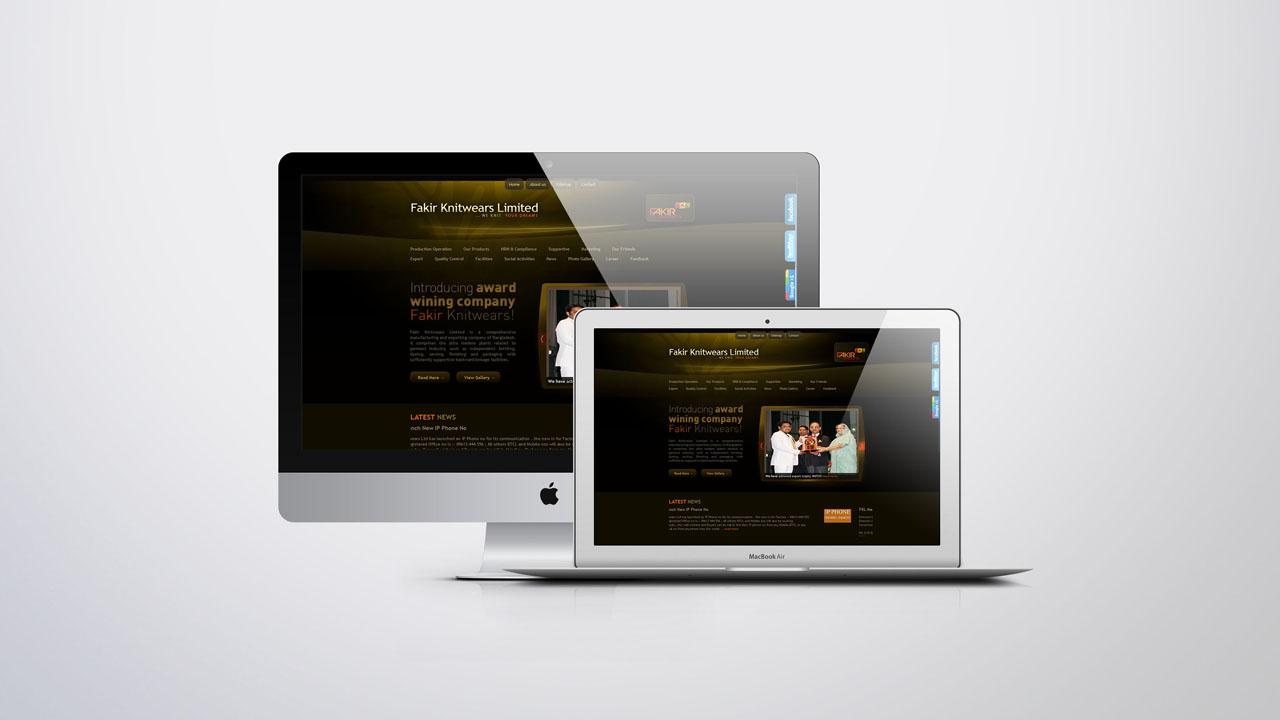 Garments website development