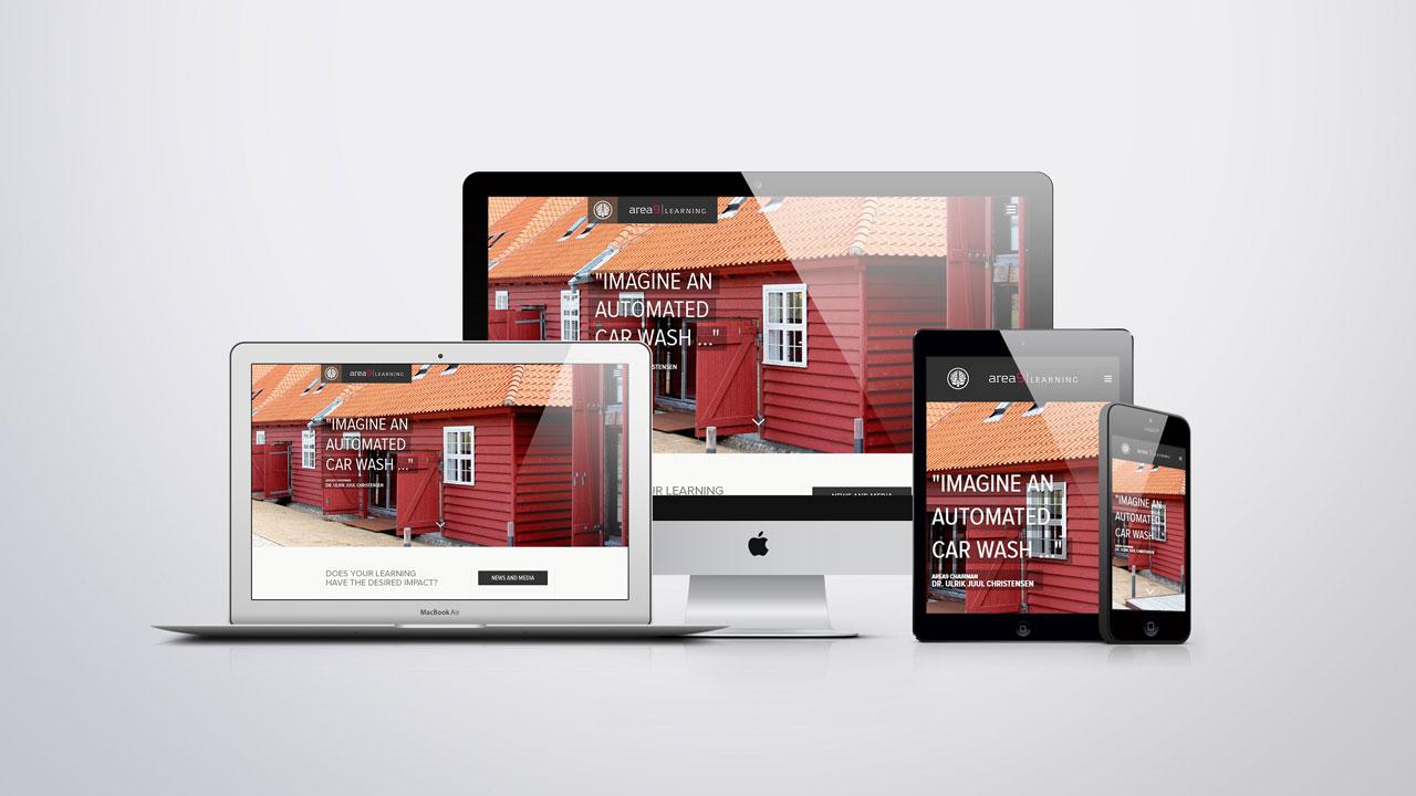 area9 Learning Business Website Development Screenshot