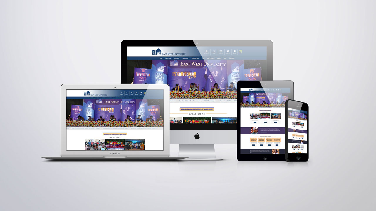 Web design company for East West